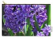 Flowering Purple Hyacinthus Flower Bulb Blooming Carry-all Pouch