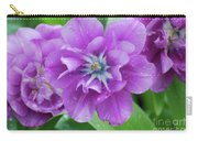Flowering Purple Tulips With Raindrops From A Spring Rain Carry-all Pouch