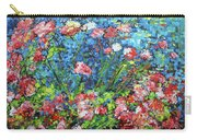 Flowering Shrub In Pink On Bright Blue 201676 Carry-all Pouch