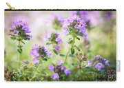 Flowering Thyme Carry-all Pouch