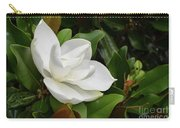 Flowering White Magnolia Blossom On A Magnolia Tree Carry-all Pouch