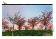 Flowering Young Cherry Trees On A Green Hill In The Park  Carry-all Pouch