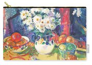 Flowers And Fruit In A Green Bowl Carry-all Pouch