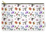 Flowers And Hummingbirds 1 Carry-all Pouch