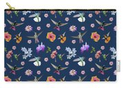 Flowers And Hummingbirds 2 Carry-all Pouch