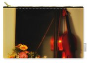 Flowers And Violin Carry-all Pouch