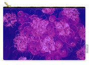 Flowers, Buttons And Ribbons -shades Of  Blue To Fuchsia Carry-all Pouch