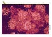 Flowers, Buttons And Ribbons -shades Of Burbundy Rose Carry-all Pouch