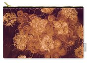 Flowers, Buttons And Ribbons -shades Of Burnt Umber Carry-all Pouch