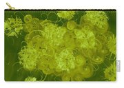 Flowers, Buttons And Ribbons -shades Of Chartreuse Carry-all Pouch