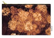 Flowers, Buttons And Ribbons -shades Of  Chocolate Mocha Carry-all Pouch