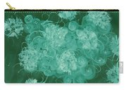 Flowers, Buttons And Ribbons -shades Of Green Carry-all Pouch