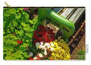Flowers By Green Bench Carry-all Pouch