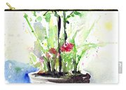Flowers By The Pool Carry-all Pouch