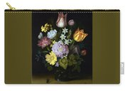 Flowers In A Glass Vase Carry-all Pouch