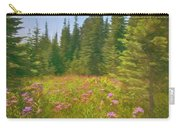 Flowers In A Mountain Glade Carry-all Pouch