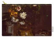 Flowers In A Vase And A Glass Of Champagne Carry-all Pouch