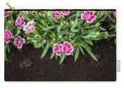 Flowers In Grass Growing From Natural Clean Soil Carry-all Pouch