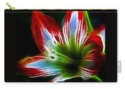 Flowers In Green And Red Carry-all Pouch
