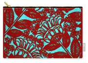 Flowers Indigo Red And Blue Carry-all Pouch
