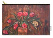 Flowers Of Pink In Vase Carry-all Pouch