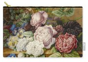 Flowers On A Ledge Carry-all Pouch
