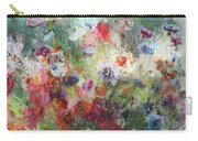 Flowers On Canvas Carry-all Pouch