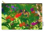 Flowers On Display As Abstract Art Carry-all Pouch