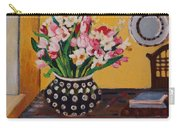 Flowers On The Desk Carry-all Pouch