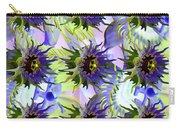 Flowers On The Wall Carry-all Pouch by Betsy Knapp