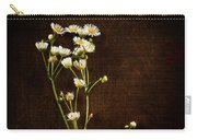 Flowers On Wood Carry-all Pouch