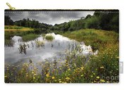 Flowery Lake Carry-all Pouch by Carlos Caetano