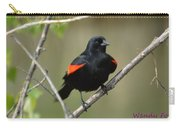 Fluffed Red-winged Blackbird Carry-all Pouch