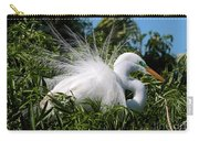 Fluffy Great Egret Carry-all Pouch