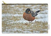 Fluffy Robin In Snow Carry-all Pouch