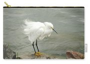 Fluffy Snowy Egret Carry-all Pouch