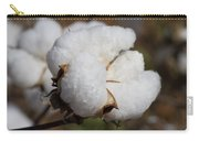 Fluffy White Alabama Cotton Carry-all Pouch
