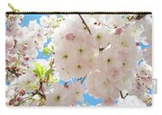 Fluffy White Pink Sunlit Tree Blossom Art Print Canvas Baslee Troutman Carry-all Pouch