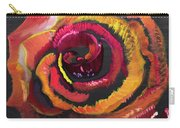Fluorescent Rose Carry-all Pouch