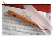 Flute And Feather Carry-all Pouch by Carlos Caetano