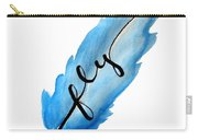 Fly Blue Feather Vertical Carry-all Pouch