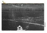 Fly Fishing In Black And White Carry-all Pouch