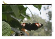 Fly Free - Black, Orange, White Butterfly Carry-all Pouch