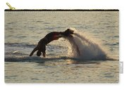 Flyboarder Diving In Up To His Arms Carry-all Pouch