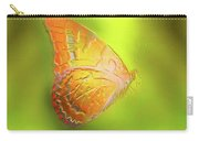 Flying Butterfly On Decorative Background, Graphic Design. Carry-all Pouch