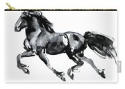 Flying Friesian Carry-all Pouch
