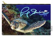 Flying Green Turtle With Logo Carry-all Pouch
