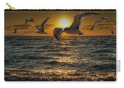 Flying Gulls At Sunset Carry-all Pouch