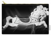 Flying Horse Black And White Carry-all Pouch