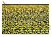 Flying Over Sunflower Fields Carry-all Pouch